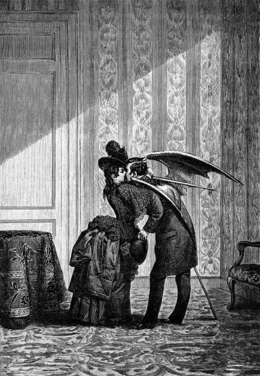 Vampire's Kiss illustration by Max Ernst, 1934, a collage from his work Une Semaine de Bonte (A Week of Kindness).