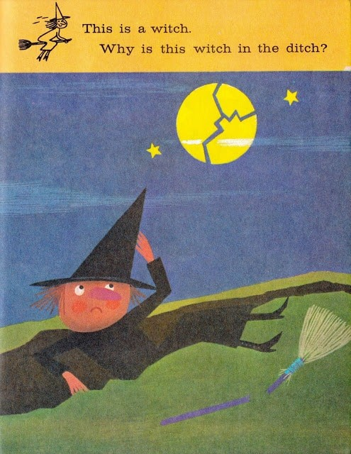 A Dragon in a Wagon by Janette Rainwater, illustrated by John Martin Gilbert (1973) witch in the ditch