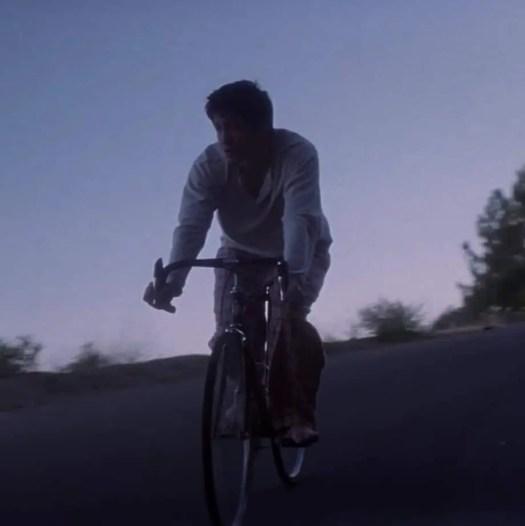 Donnie Darko on his bike