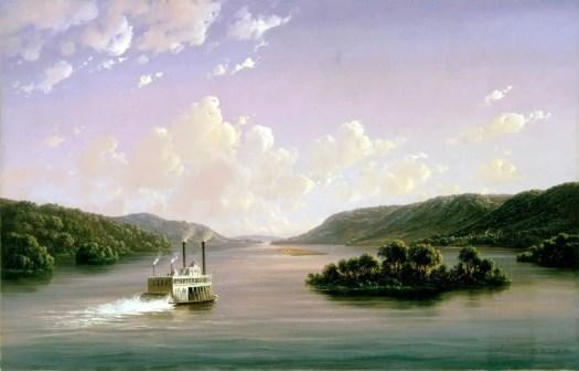 Ferdinand Richardt - View of the Mississippi