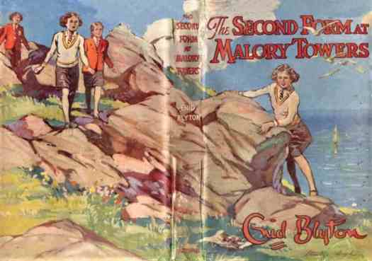 In The Second Form At Malory Towers by Enid Blyton retro dust cover