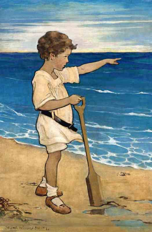 Jessie Willcox Smith Daddy's Over There, 1918