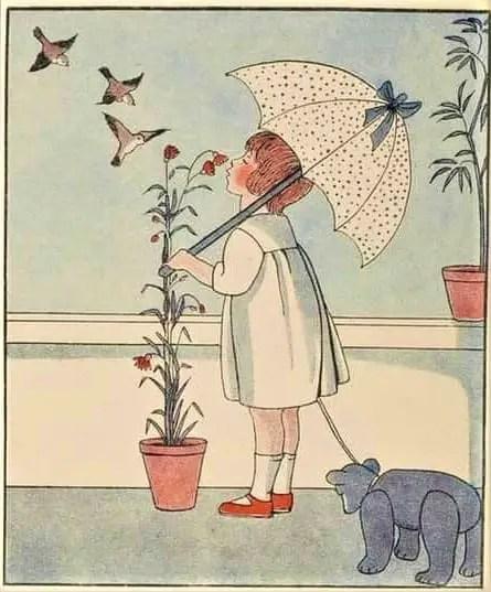 Marie-Madeleine FRANC-NOHAIN [1878-1942] Alphabet In Pictures 1933 umbrella