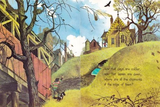 Now That Days Are Colder by Aileen Fisher, Designed & Illustrated by Gordon Laite, Lettering by Paul Taylor (1973) slope