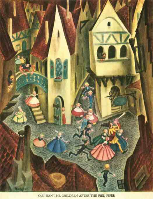 Out Ran The Children After The Pied Piper by Gustaf Tenngren