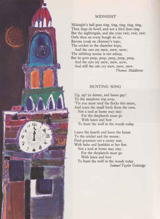Oxford Book of Poetry for Children compiled by Edward Blishen, illustrated by Brian Wildsmith (1963)