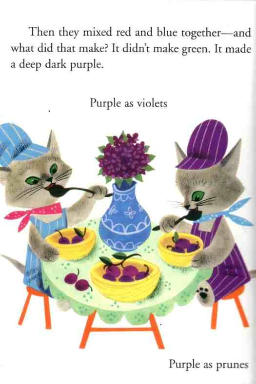The Color Kittens (1949), by Margaret Wise Brown illustrated by Alice and Martin Provensen purple