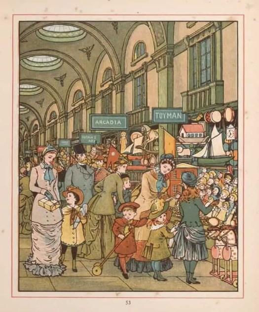 Walter Crane 1845 - 1915 London Town Arcadia 1883