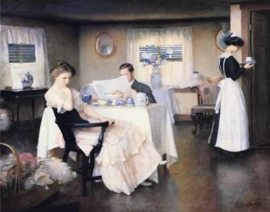 William McGregor Paxton - The Breakfast Room