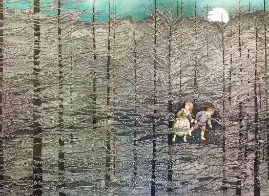 from Hansel & Gretel, Susan Jeffers- illustrator, pub. 1980