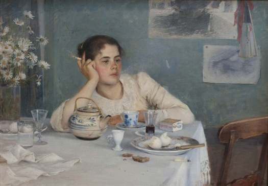 After Breakfast by Elin Danielson-Gambogi (1861-1919), Finnish painter