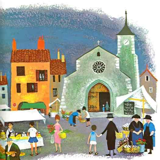 Barbara Cooney (1917-2000)  illustrations for Mother Goose 1964 in French