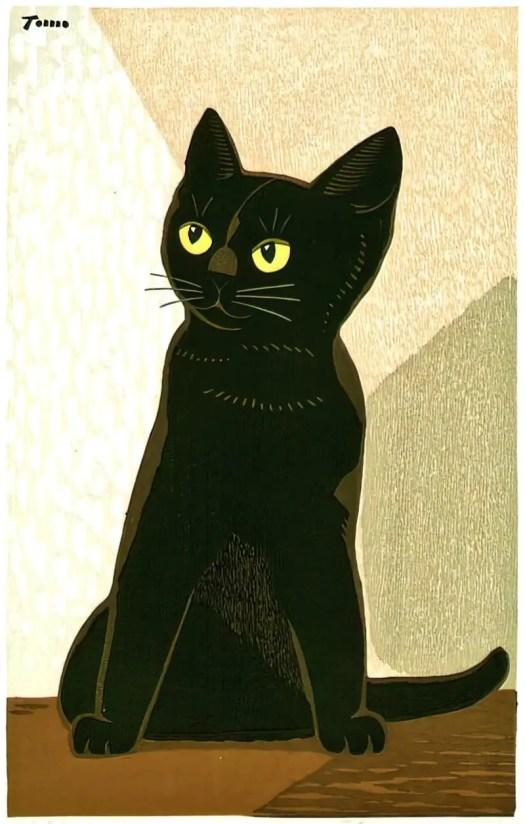 'Black Cat' - Inagaki Tomoo, ca. 1940-50