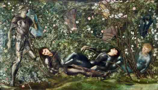 Edward Burne-Jones 1833-1898, The Prince Entering the Briar Wood, 1869, Sleeping Beauty