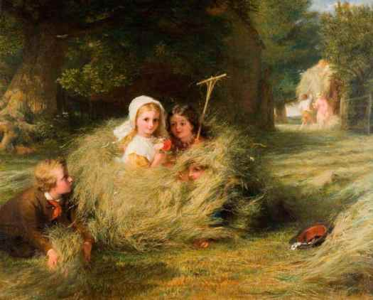 George Bernard O'Neill - Nestlings 1870 hay