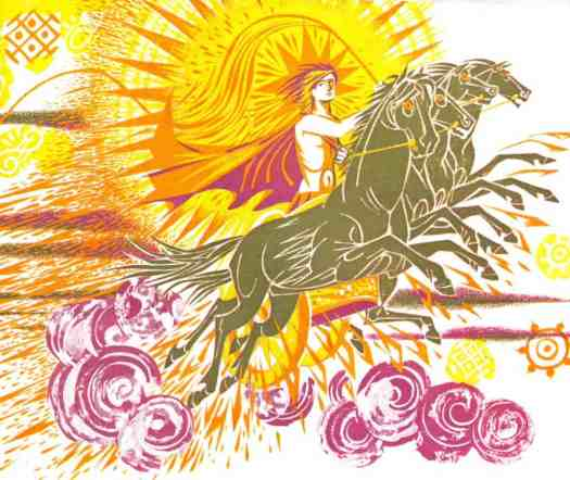 Helios drove across the sky, From 'Childcraft Vol 6'. First published in 1964