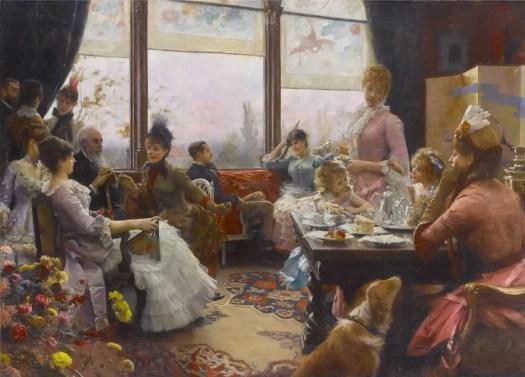 Julius LeBlanc Stewart (1855-1919) - Five O'Clock Tea party
