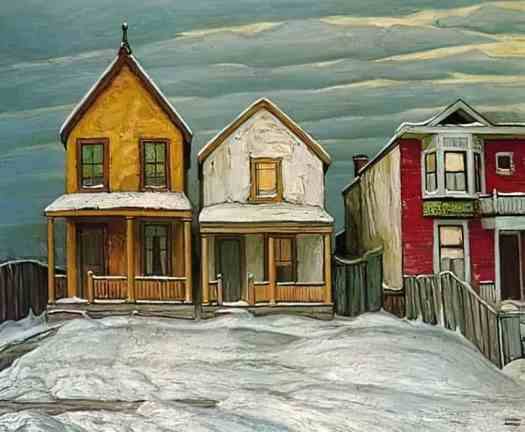 Lawren Harris (1885 - 1970) Houses In Winter, 1920