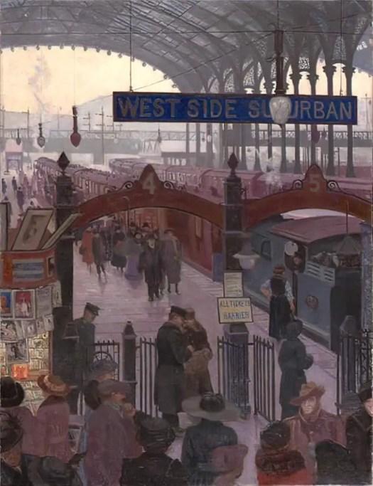 Liverpool Street Station by Marjorie Sherlock 1917