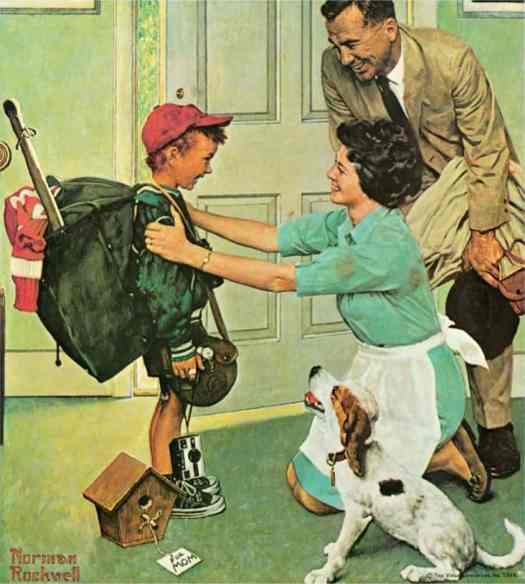 Norman Rockwell, Home from Camp, 1968 green