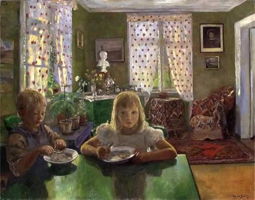 Otto Ludvig Sinding (Norwegian, 1842 - 1909) breakfast