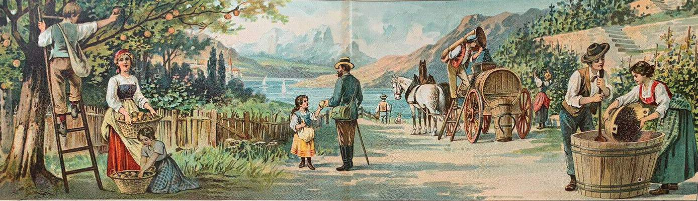 'Seasons - Fall, Winter' Illustrator not found c1890, German influence likely autumn
