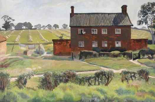 The Red House  Stanley Spencer, oil on canvas, 1926