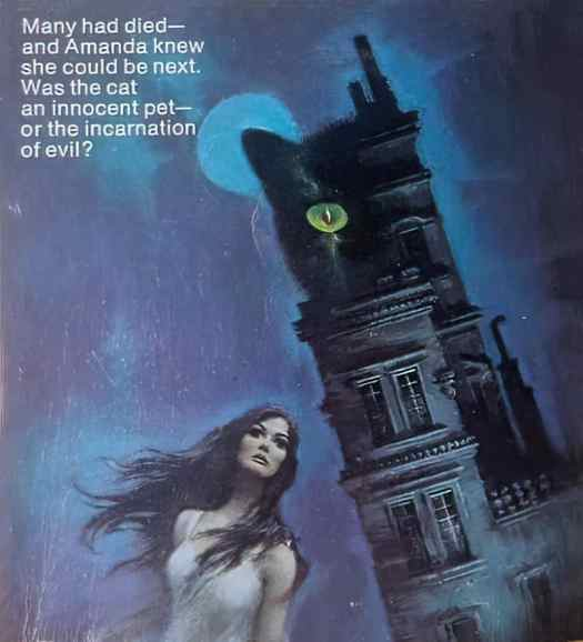 Artwork on the paperback cover of The Small Tawny Cat by Virginia Coffman