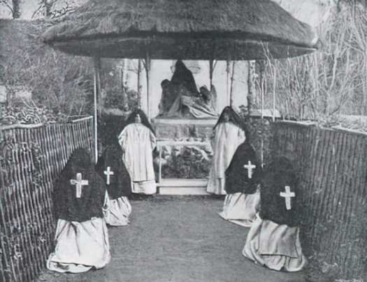 Where Women Never Speak The group of 'Notre Dame de Pitié' under its thatched shelter