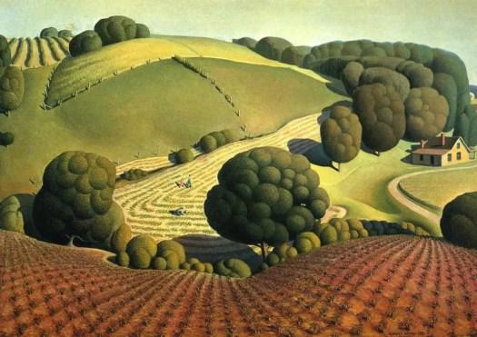 Young Corn, Grant Wood, 1931