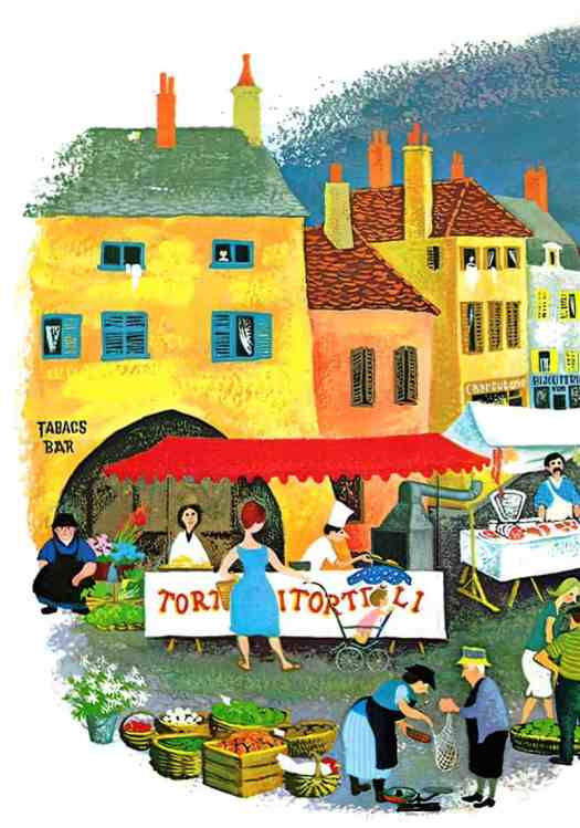 Barbara Cooney (1917-2000)  illustrations for Mother Goose 1964 in French market