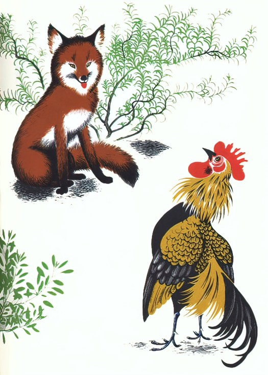 Barbara Cooney (American, 1917-2000) 'Chanticleer and the Fox' adapted from The Canterbury Tales 1958