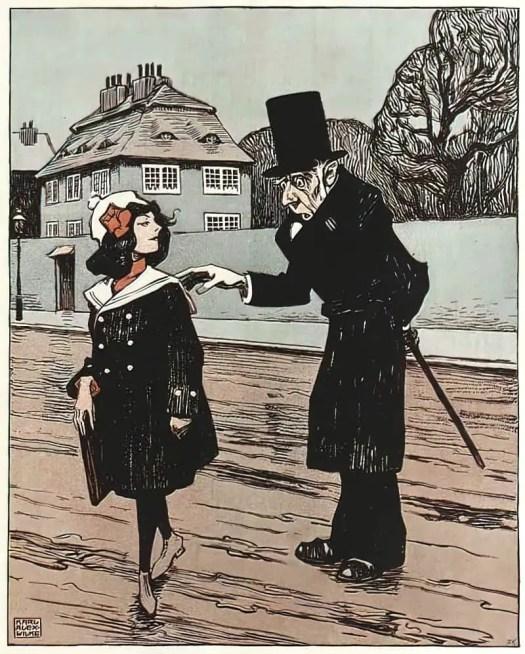 Karl Alexander Wilke (1879-1954) girl old man