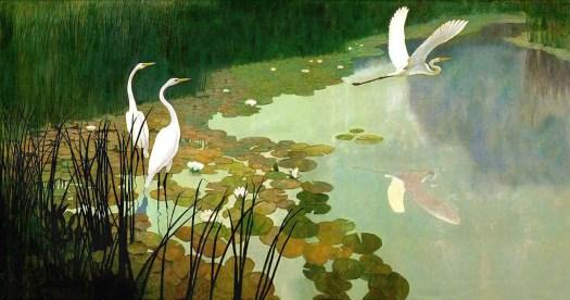 NC Wyeth ~ 'Herons in Summer', 1941