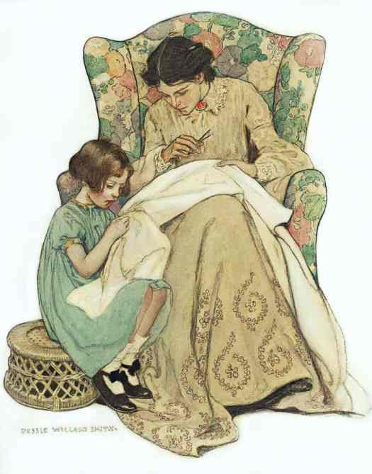 The Sewing Lesson, Jessie Willcox Smith, 1909