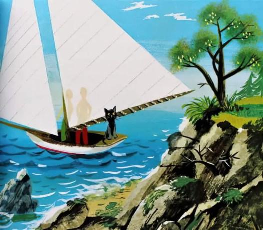 Leonard Weisgard (1916 - 2000) 1946 illustration for The Little Island by Margaret Wise Brown