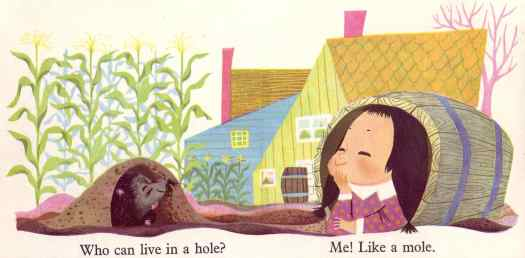 Story Land (published by Paul Hamlyn, London 1960) mole Mary Blair who can live in a hole