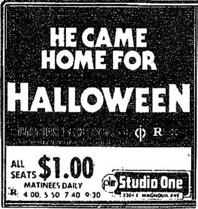 ad Halloween 1978 Studio One Matinee