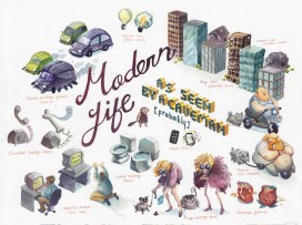 Laura Bifano - Modern Life as seen by a Caveman
