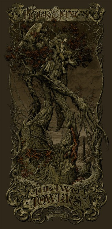 Aaron Horkey - The Two Towers Variant