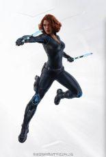 Avengers Age of Ultron art Black Widow