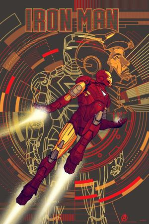 Avengers Mondo Poster - Iron Man (variant)