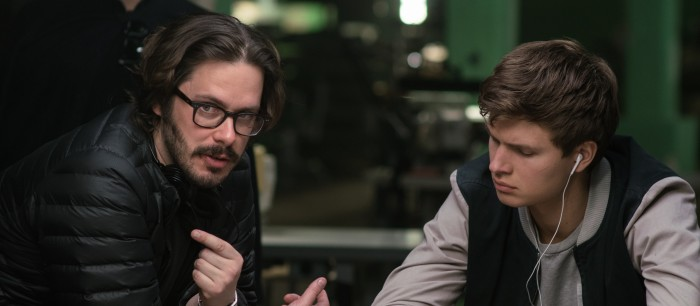 Baby Driver BTS - Edgar Wright and Ansel Elgort