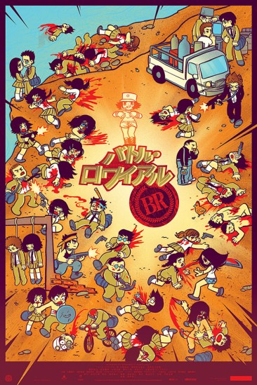 Mondo's 'Battle Royale' Print by Bryan Lee O'Malley and Kevin Tong [variant]