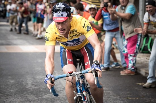 Ben Foster as Lance Armstrong in Stephen Frears movie