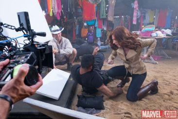 Captain America Civil War - Black Widow BTS