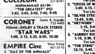 Coronet Star Wars showtimes