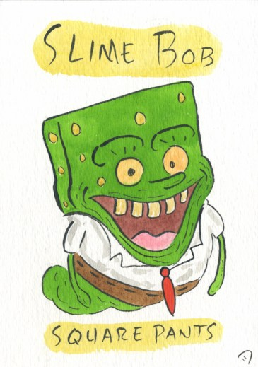 Dan Goodsell - Ghostbusters slimebobsquarepants
