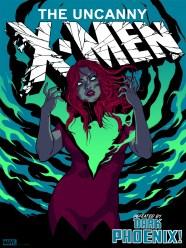 "Dark Phoenix (Variant) by Becky Cloonan 18"" x 24"" screen print. Edition of 125."