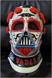Denise Vasquez - Vinyl Dia de Los Muertos Vader Helmet